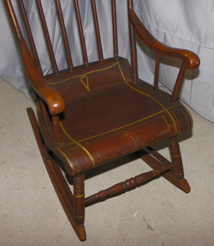 Bargain Johns Antiques  Antique Old Boston Rocking Chair