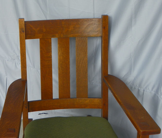 chair with arms eames inspired rocking bargain john's antiques | antique mission oak arts & crafts rocker - john ...