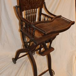 High Seat Chairs Spongebob Table And Bargain John 39s Antiques Antique Oak Folding Up Down