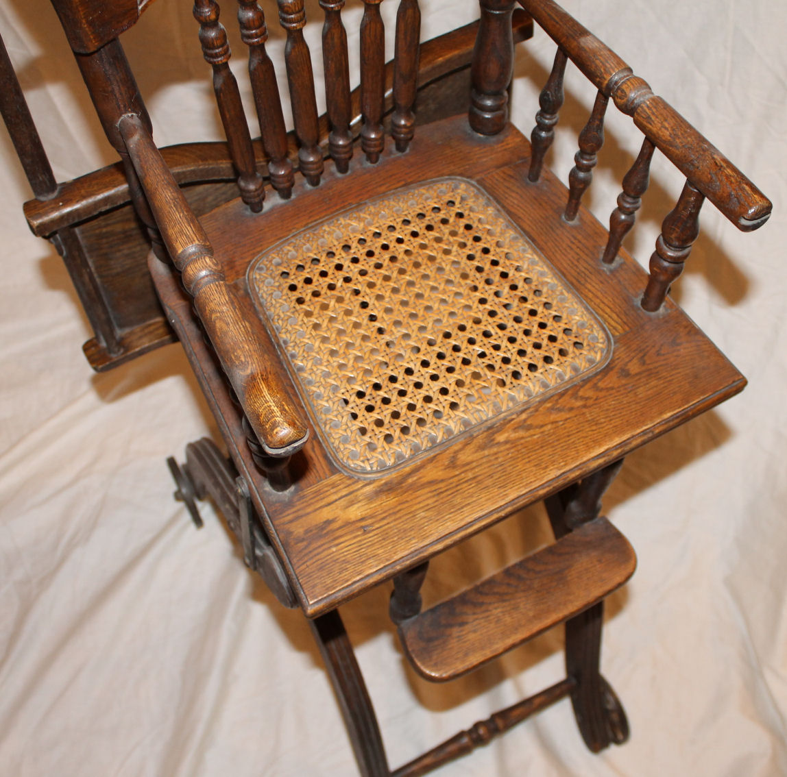 antique high chairs home chair lift bargain john s antiques oak folding up and down child 1 175
