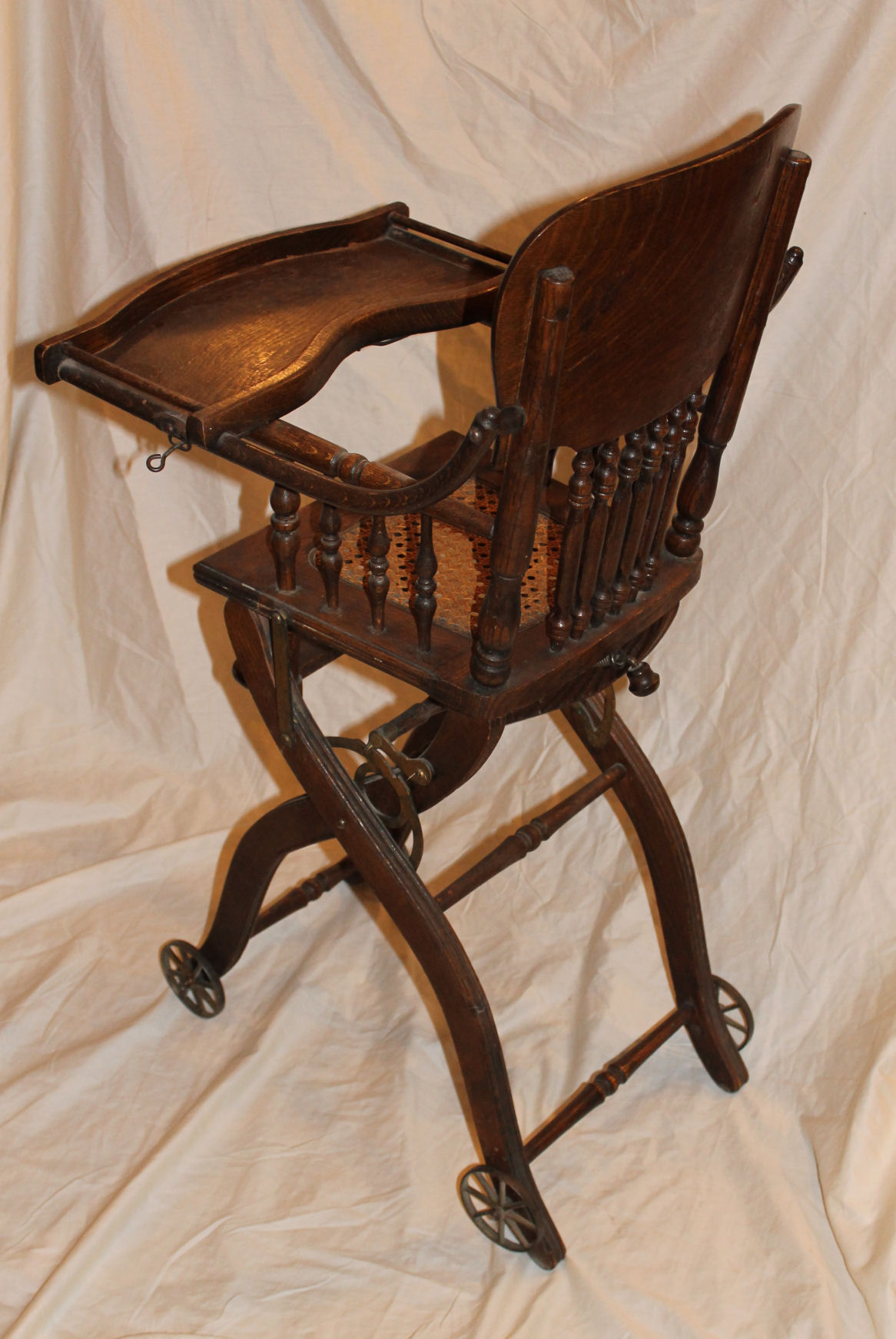 Bargain Johns Antiques  Antique Oak Folding Up and Down