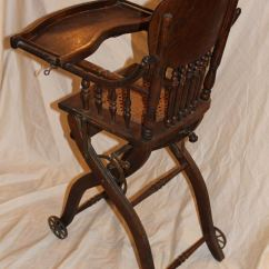 Antique High Chairs Lazy Boy Office Chair Parts Bargain John 39s Antiques Oak Folding Up And Down