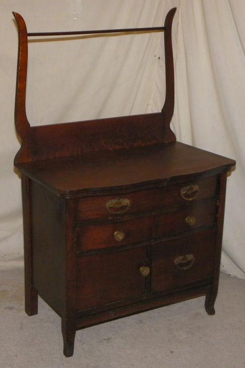 Bargain Johns Antiques  Antique Oak Washstand Commode