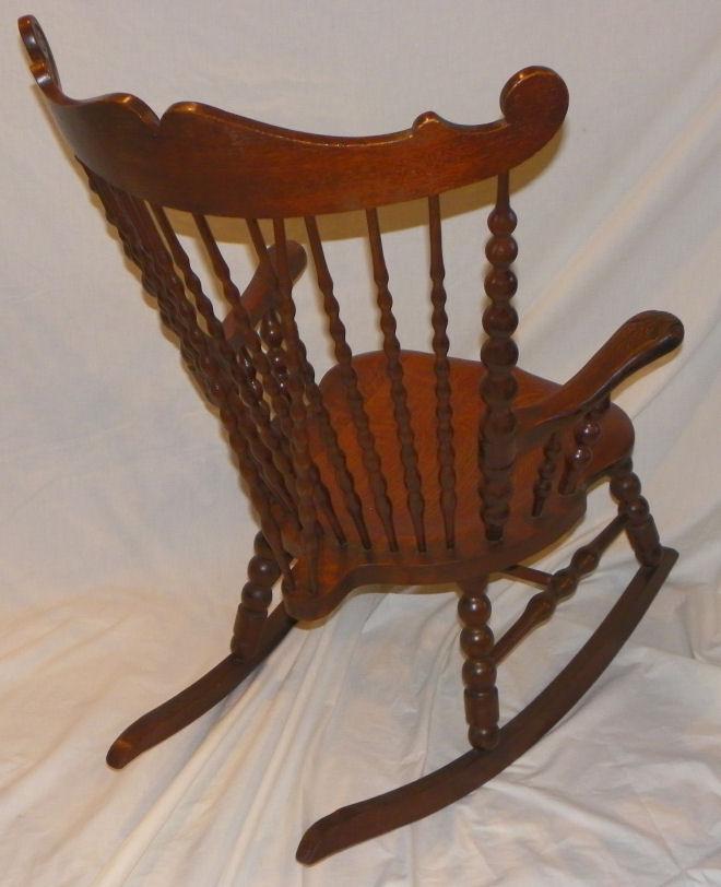wood high chair for sale munchkin bargain john's antiques | antique victorian back oak rocker - rocking john ...