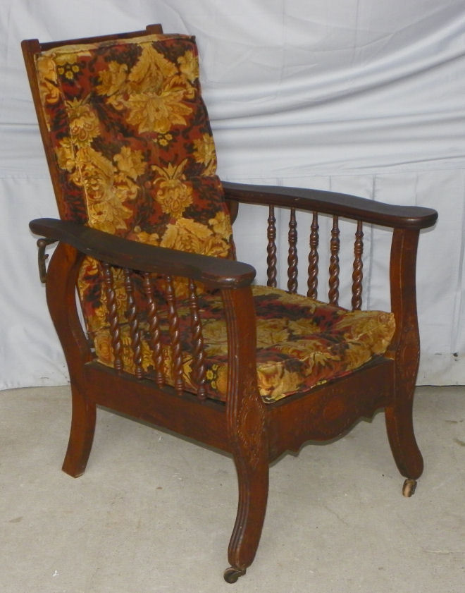 rocking chair height dorm desk slipcover bargain john's antiques » blog archive rare child's antique oak morris - original finish ...