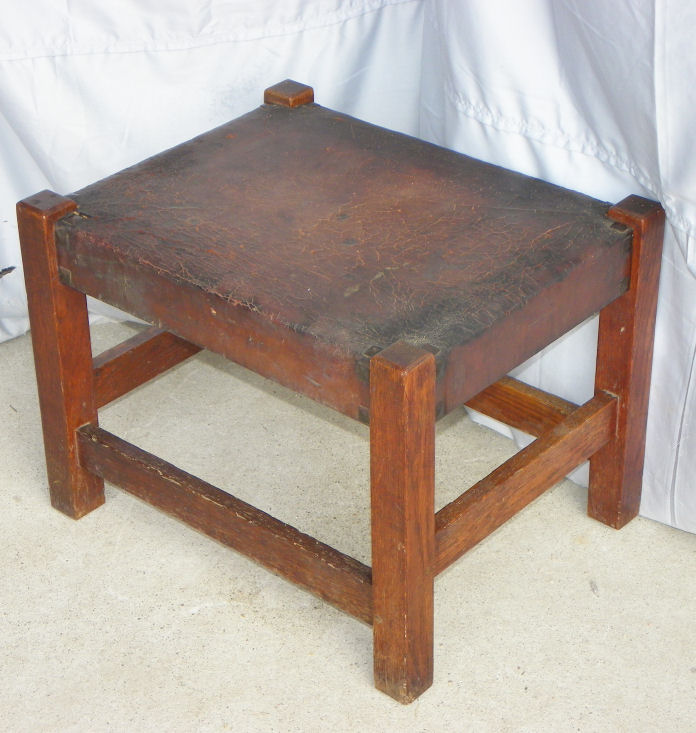 antique sewing chair lazy boy big and tall office instructions bargain john's antiques | mission oak footstool made by gustav stickley - ...