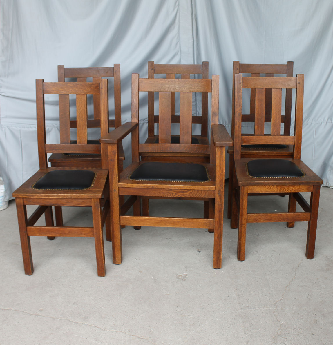 antique sewing chair steel tube bargain john's antiques | mission oak dining set - stickley brothers table & chairs ...