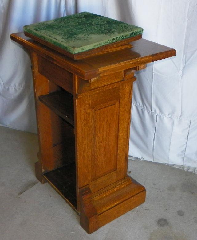Bargain Johns Antiques  Antique Oak Podium Lecturn Stand