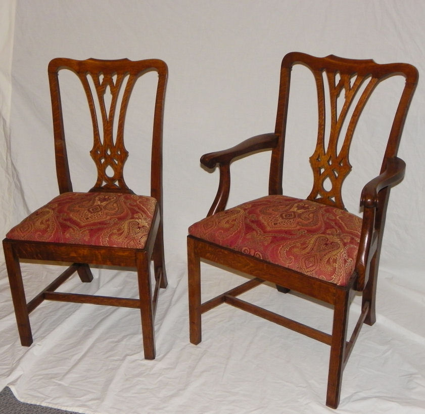 antique oak dining chairs papasan chair world market bargain john s antiques set of 8 matching very good condition