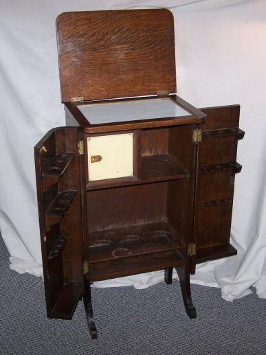 Bargain John S Antiques Antique Oak Liquor Cabinet