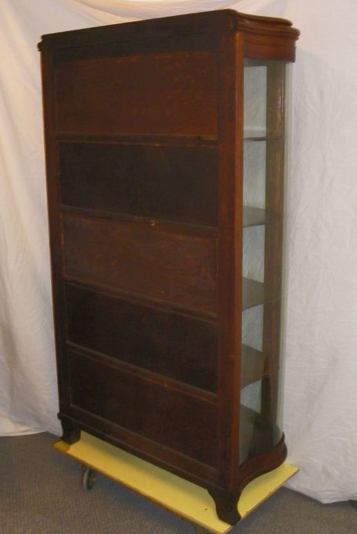 Bargain Johns Antiques  Antique Oak Curio China Cabinet