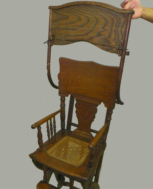 Bargain Johns Antiques  Antique Oak High Chair And