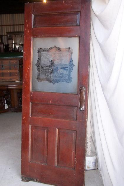 Bargain Johns Antiques  Antique wood Interior door with