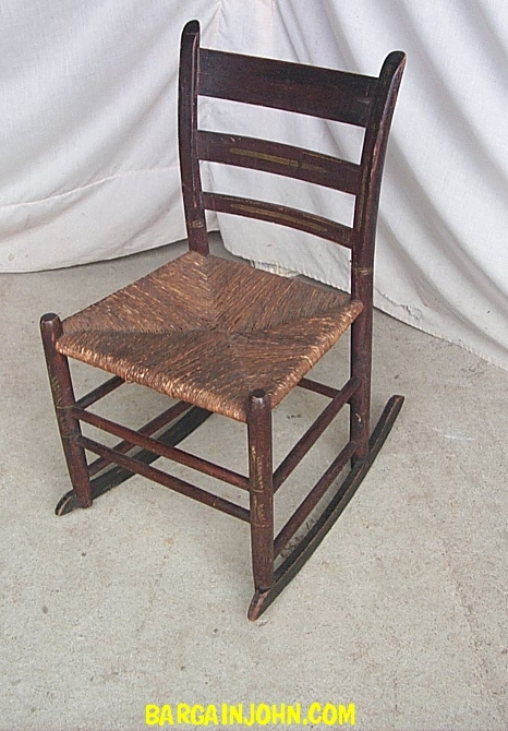 Bargain Johns Antiques  Sewing Rocker Stencil  Rush