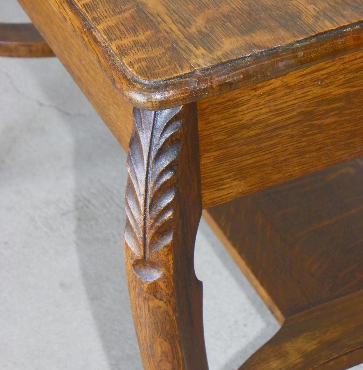 stylish high chair arne jacobsen egg bargain john's antiques | oak library table - larkin furniture company