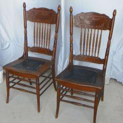 Press Back Chair Wood Bankers Bargain John 39s Antiques  Blog Archive Antique Set Of Four