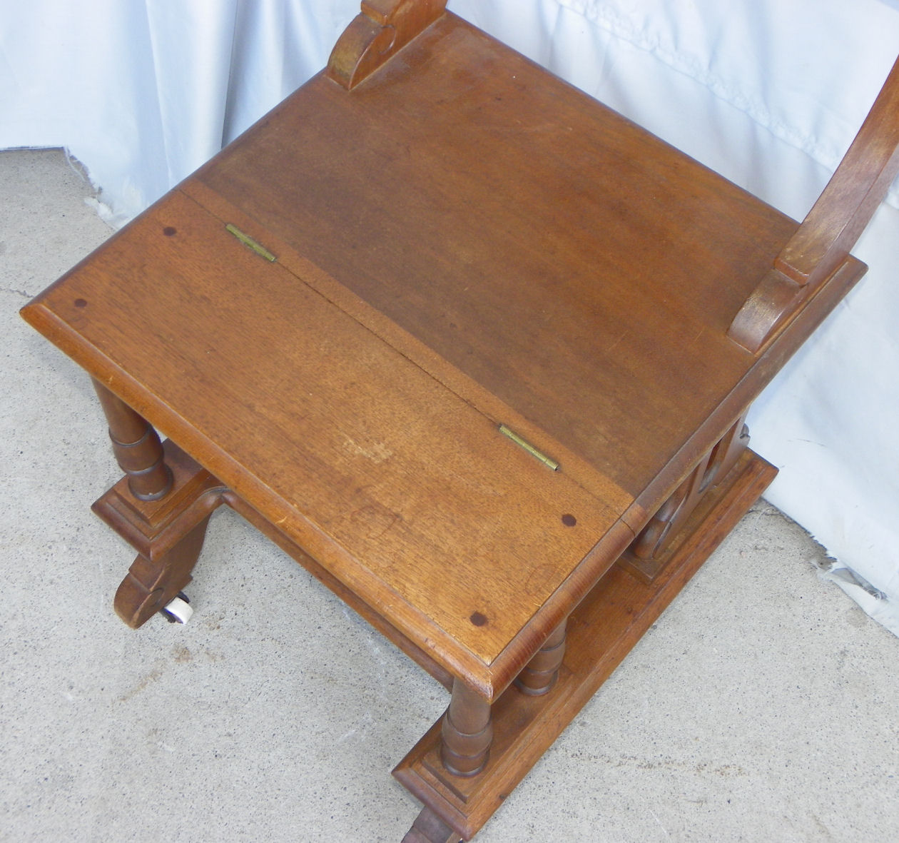 chair stool combo plastic stacking lawn chairs bargain john 39s antiques  blog archive victorian walnut