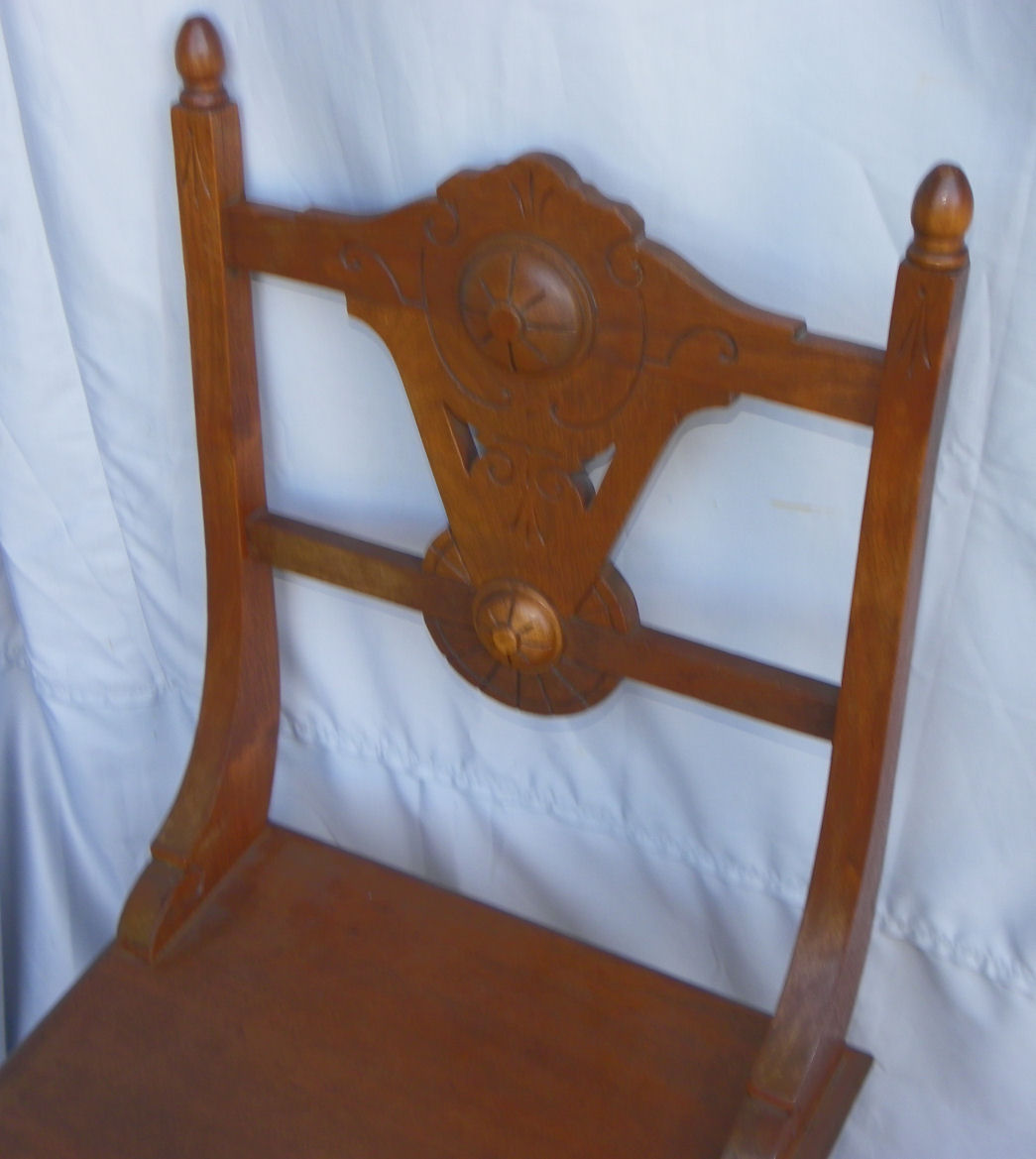 chair stool combo building a rocking bargain john 39s antiques victorian walnut combination