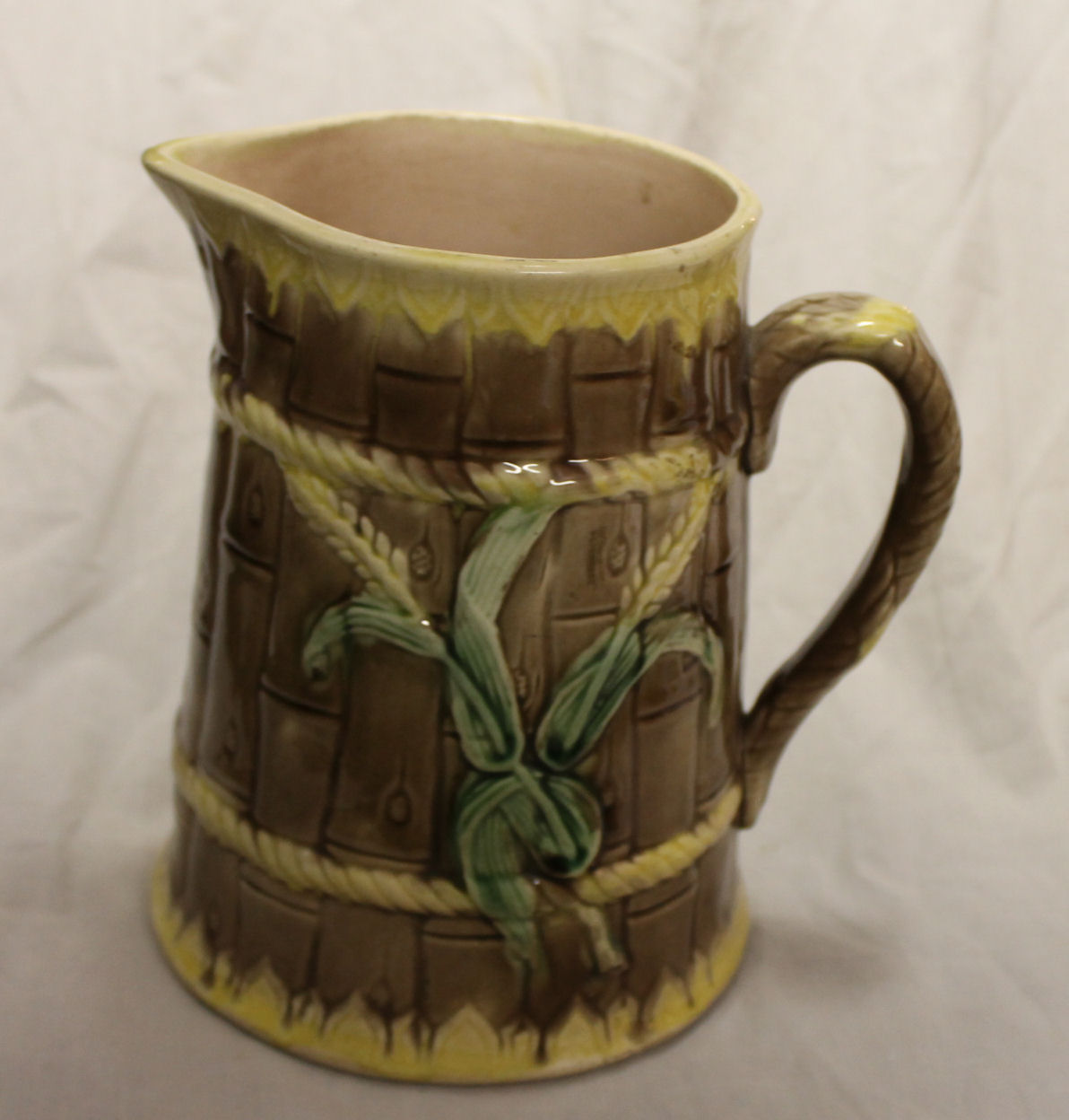 Bargain Johns Antiques Large Majolica Pitcher Bamboo