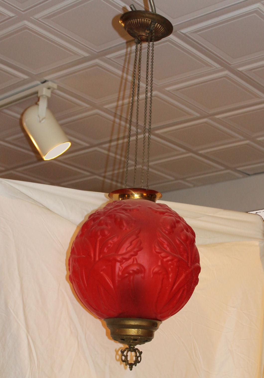 Bargain Johns Antiques  Antique Victorian Red Satin