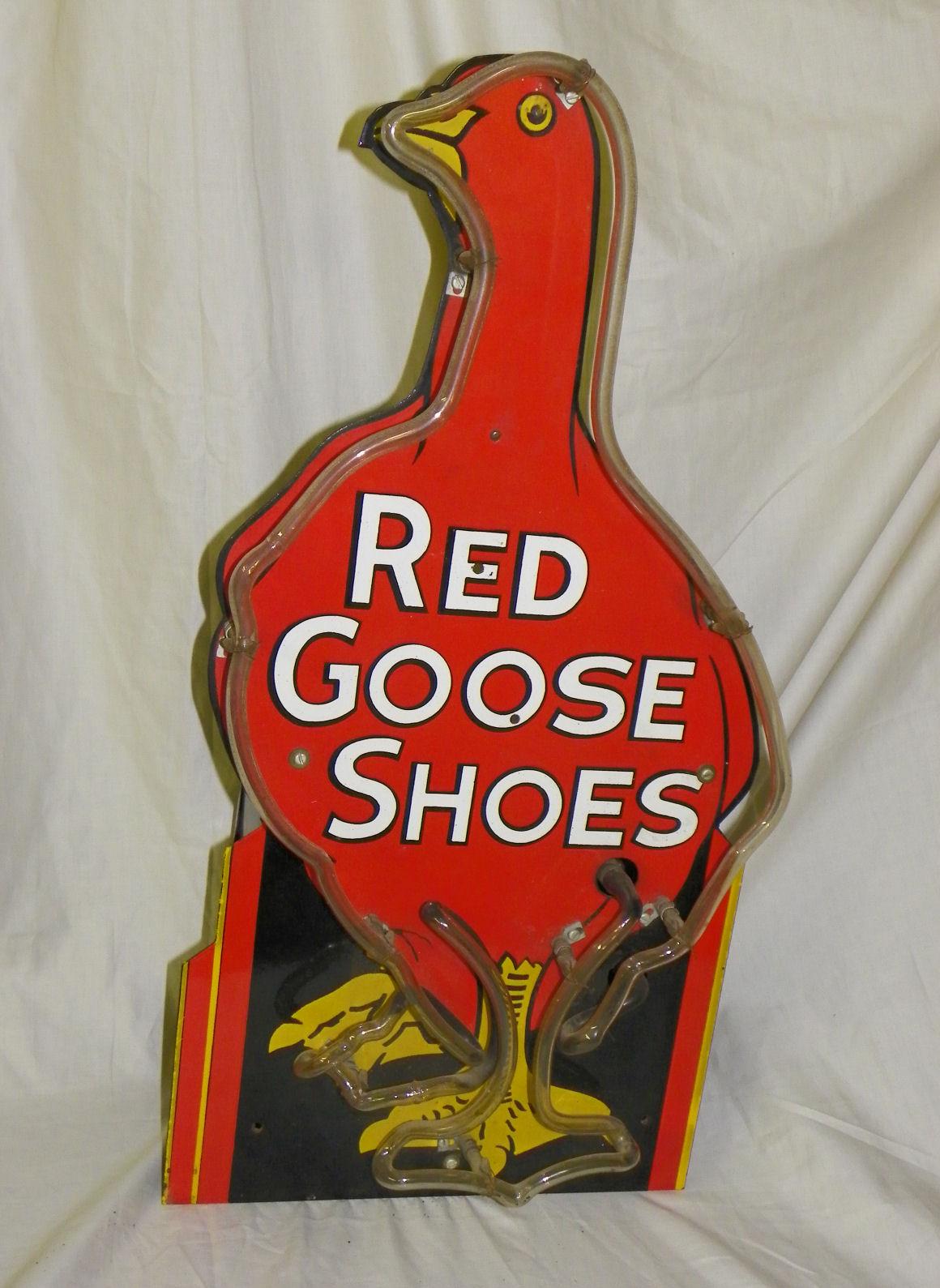Bargain Johns Antiques Red Goose Neon Porcelain Antique
