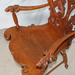 High Chair For Dolls Small Kitchen Table And Chairs Canada Bargain John's Antiques | Antique Quarter Sawn Oak Bentwood Laminated Arm - ...