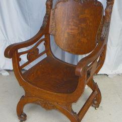 Mission Arm Chair Folding Foam Bed Bargain John's Antiques | Antique Lion Head Oak Throne -
