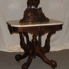 Office Chair Height Desk Posture Bargain John's Antiques | Antique Victorian Walnut Marble Top Table -