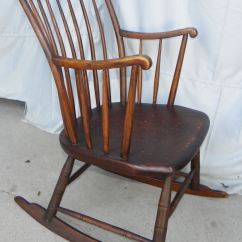 Old Fashioned Rocking Chairs Patch Leather Chair Bargain John's Antiques | Antique Primitive Windsor Style Youth - ...