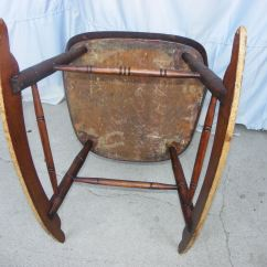 Old Lady Chair Resin Adirondack Chairs Lowes Bargain John's Antiques | Antique Primitive Windsor Style Youth Rocking - ...