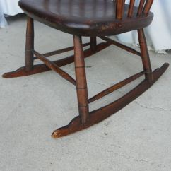 Rocking Chair Antique Styles Covers Hire Near Me Bargain John 39s Antiques Primitive Windsor Style