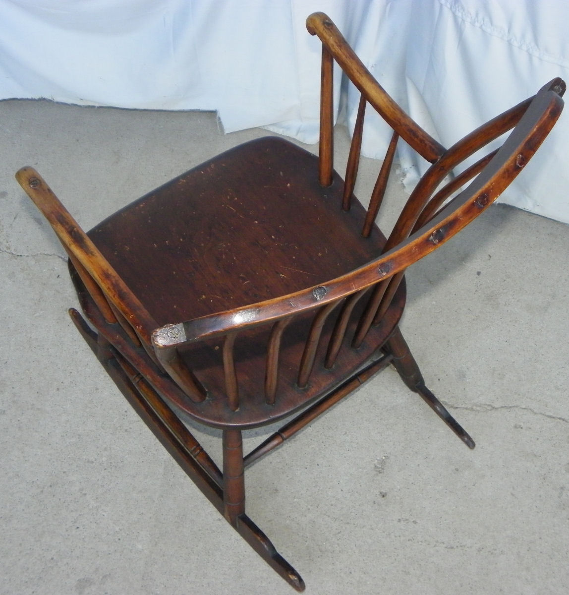 rocking chair antique styles round back dining room chairs bargain john 39s antiques primitive windsor style