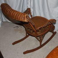 Bargain John's Antiques | Fancy Victorian Wicker Rocker ...