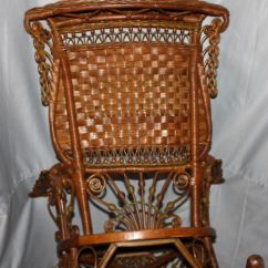 Iron Rocking Chair Industrial Dining Table And Chairs Bargain John's Antiques | Fancy Victorian Wicker Rocker - Heywood Wakefield ...