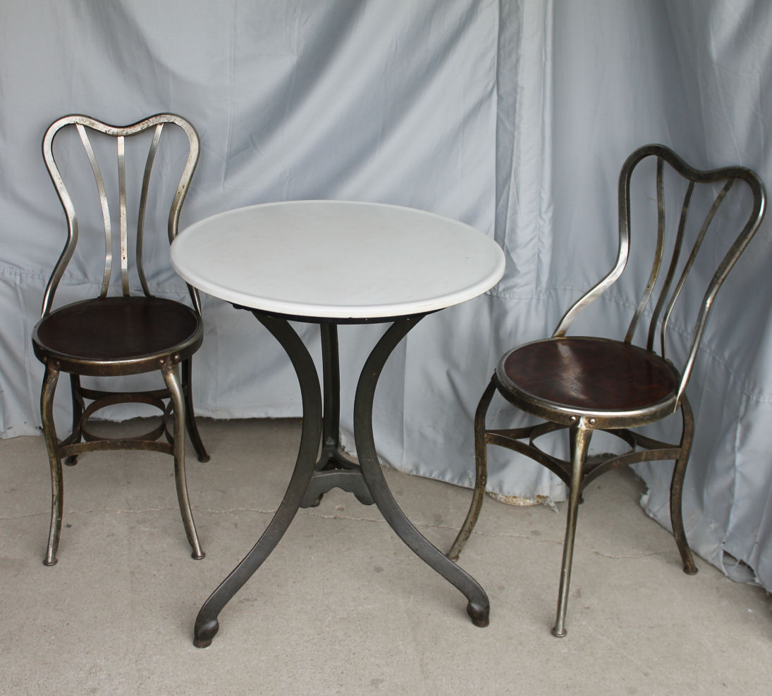 ice cream table and chairs renting for a wedding bargain john 39s antiques set of 4 parlor