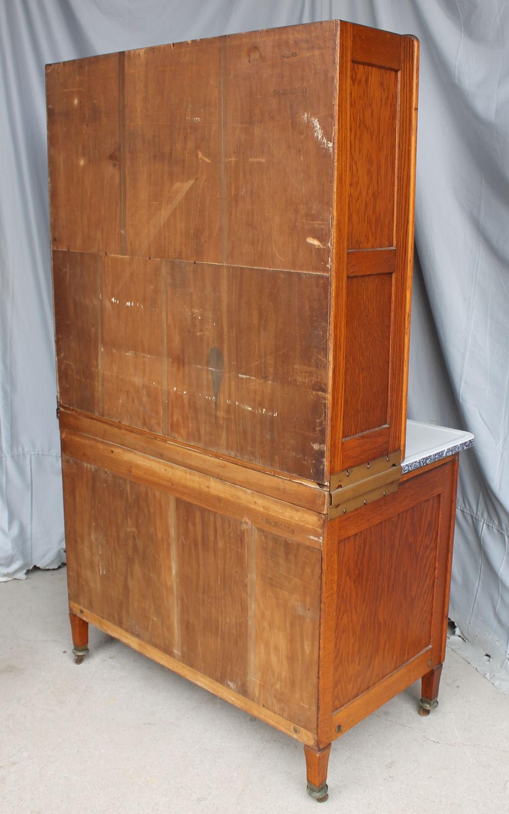 oak kitchen cabinet moen faucets home depot bargain john's antiques | hoosier ...
