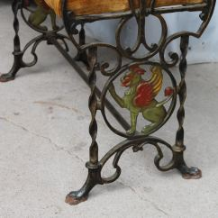 Iron Rocking Chair Me Too Portable High Bargain John's Antiques | Cast Fireside Bench - Figural Griffons On The Ends John ...