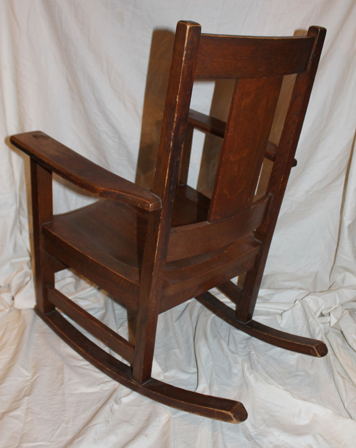 antique sewing chair folding song bargain john's antiques | mission oak rocking original finish - limbert ...