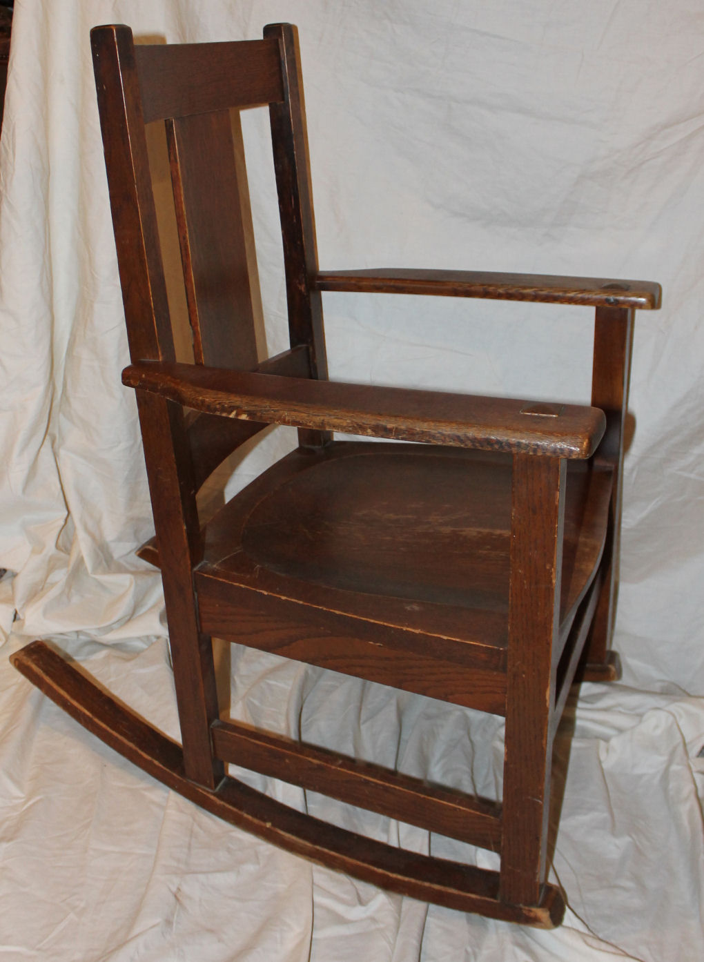 chair and steel sew covers for wedding reception bargain john's antiques | mission oak rocking original finish - limbert ...