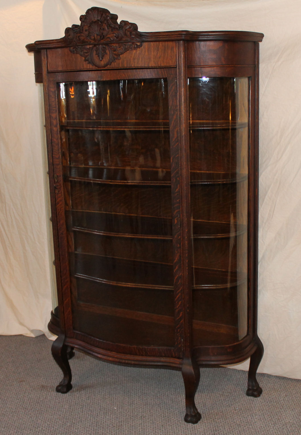 Bargain Johns Antiques  Victorian Oak China Cabinet in