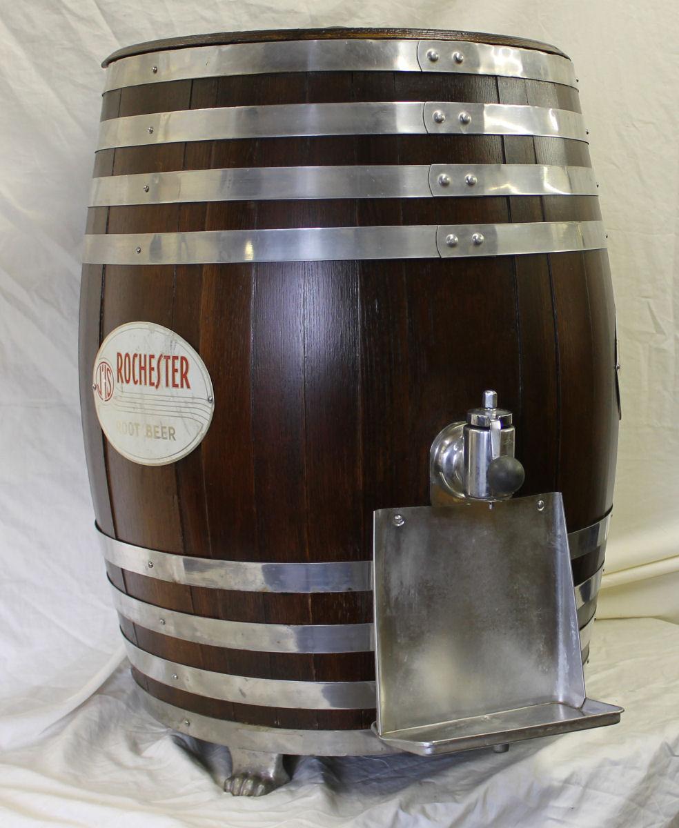 kitchen crock pull out shelves for bargain john's antiques   rochester root beer barrel ...