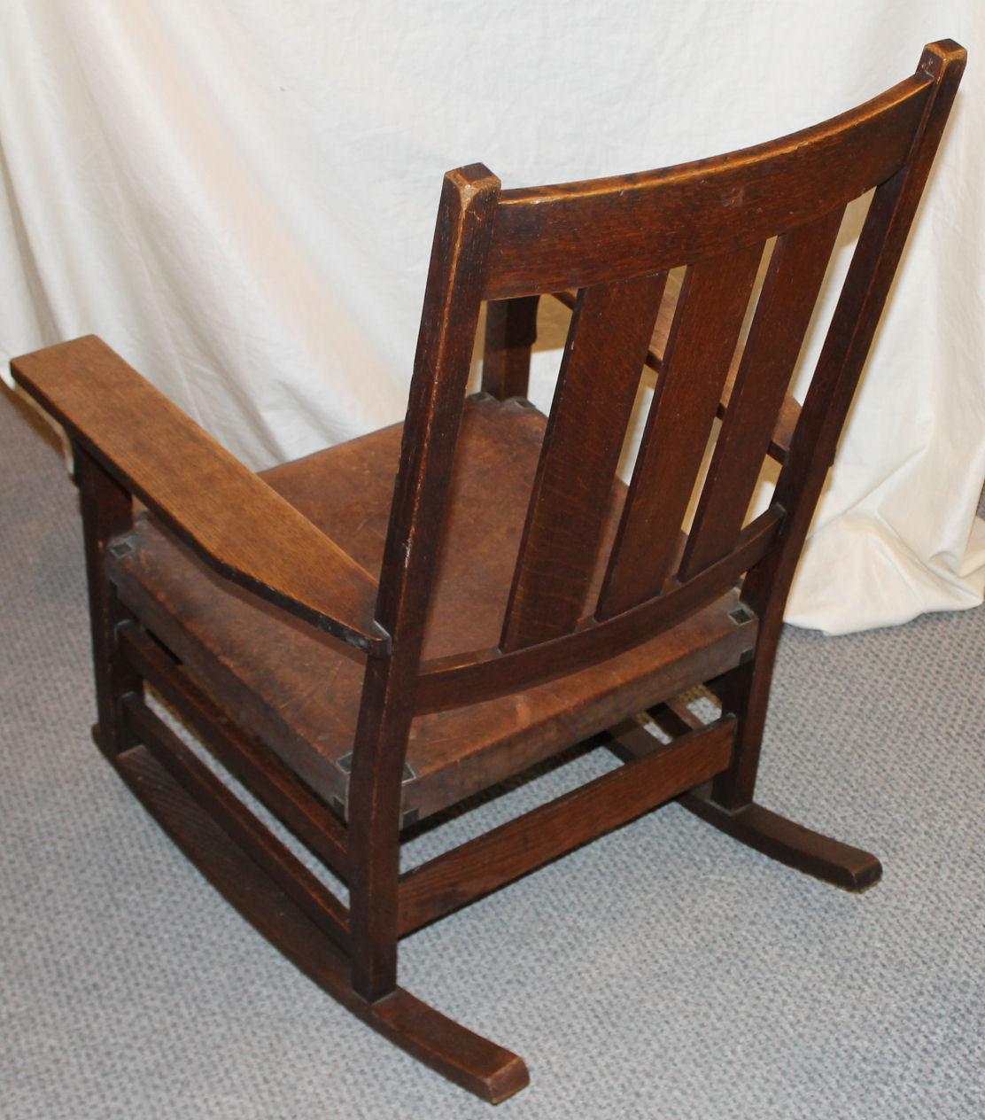 oak rocking chair plans foldable patio chairs bargain john s antiques gustav stickley 365 sold