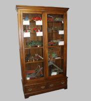 Bargain John&39;s Antiques   Oak Bookcase Double door with ...