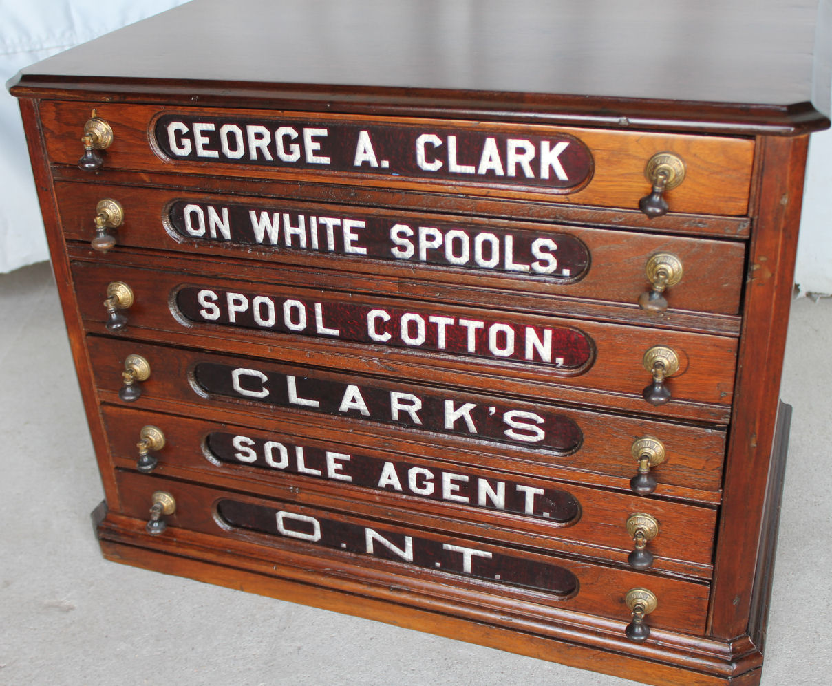 Bargain Johns Antiques  Walnut Six drawer George Clark