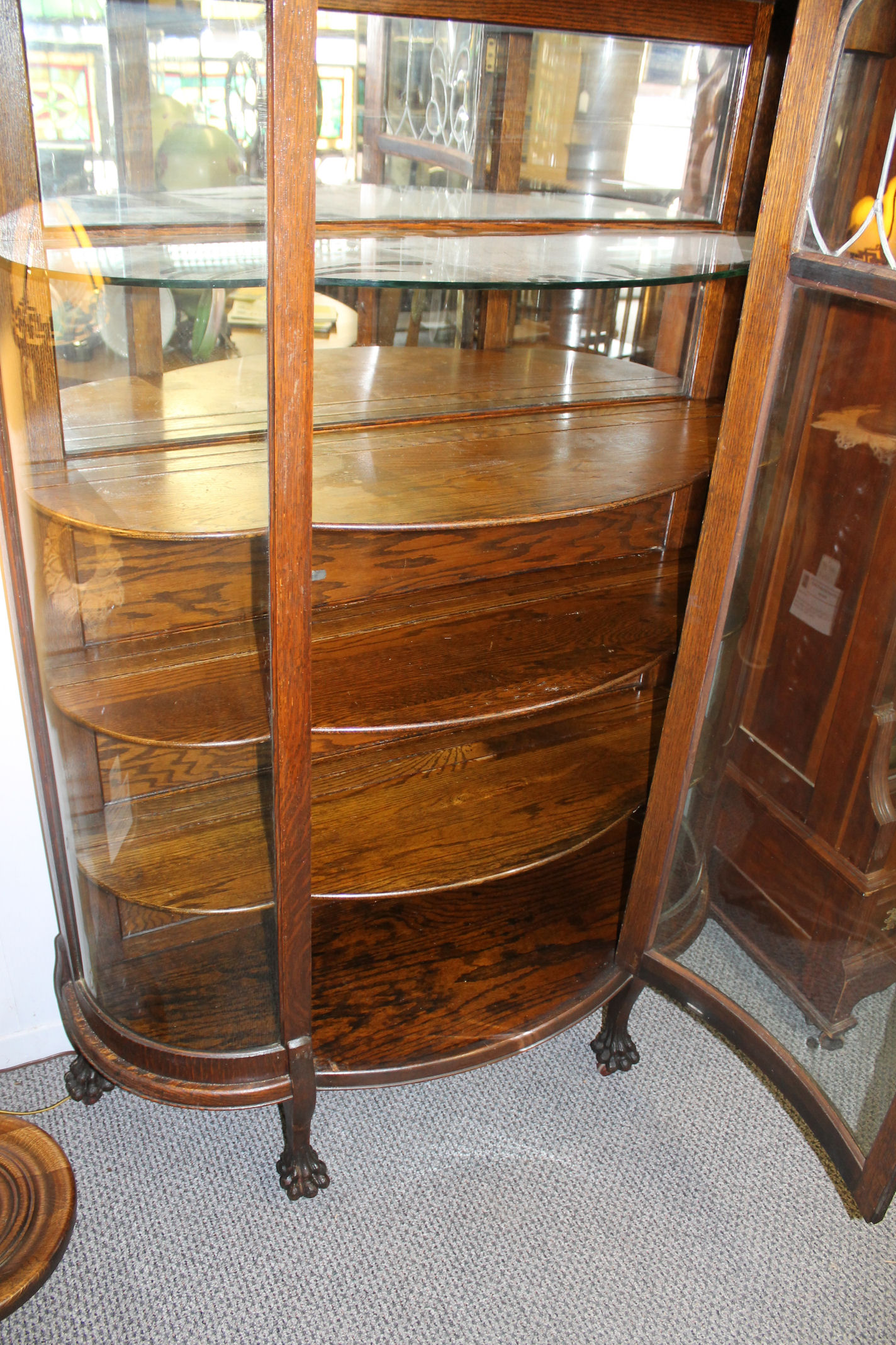 Bargain Johns Antiques  Antique Oak China Cabinet with