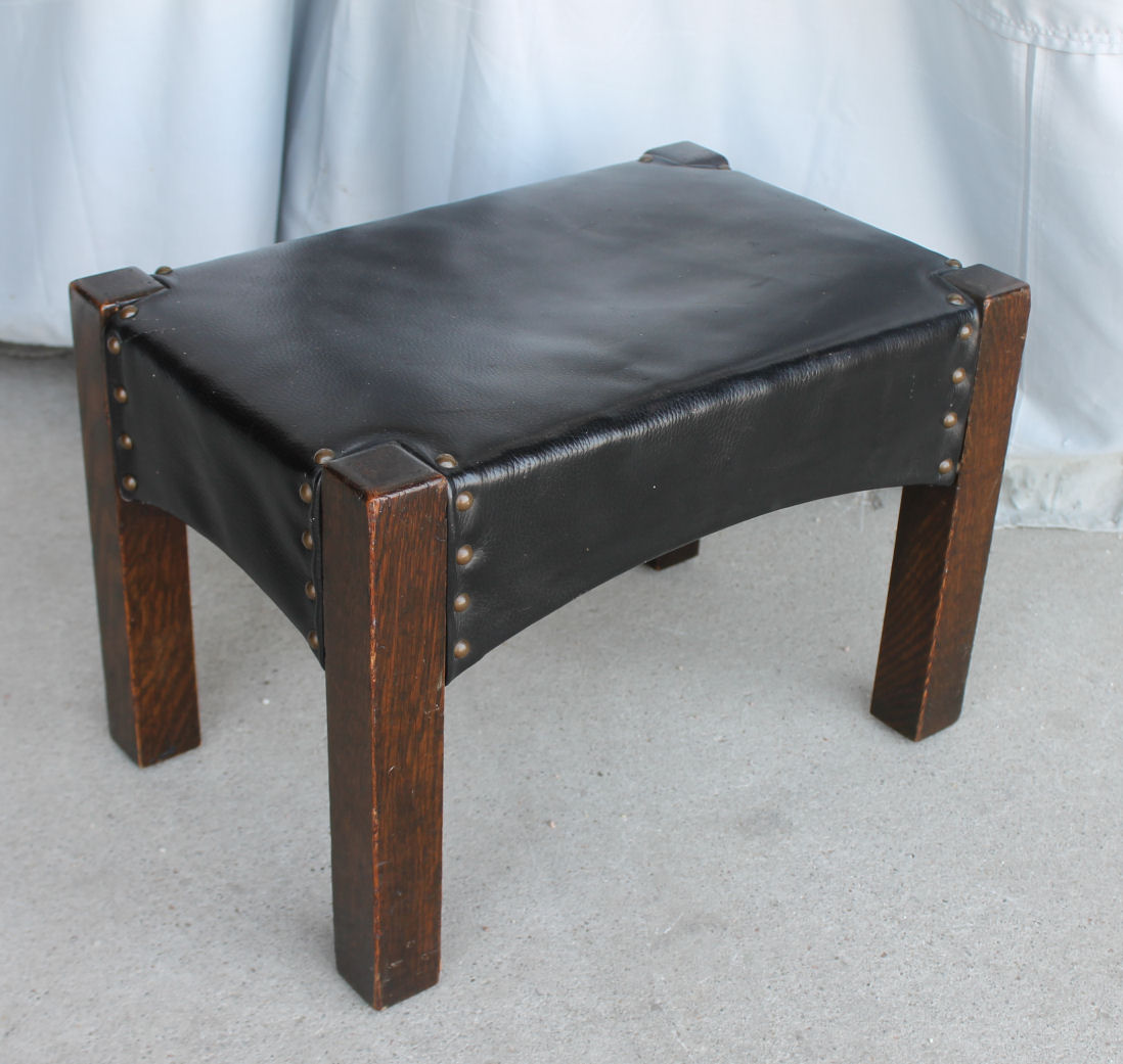 Bargain Johns Antiques  Antique Mission Oak Footstool