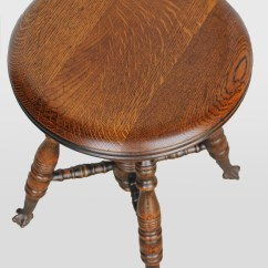 Rocking Chair Height Clear Dining Chairs Bargain John's Antiques   Antique Oak Piano Stool Claw Ball Feet -
