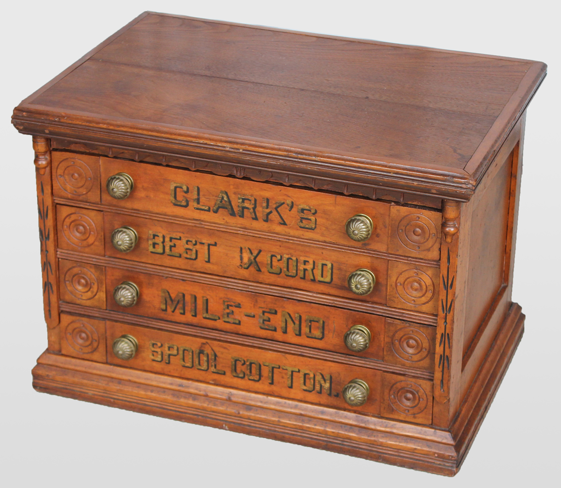 Bargain Johns Antiques  Four Drawer Clarks Country