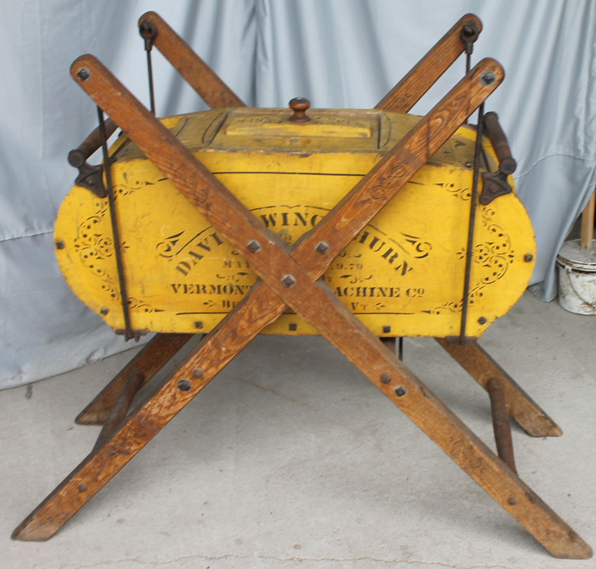 Bargain Johns Antiques  Swinging Butter Churn  Davis
