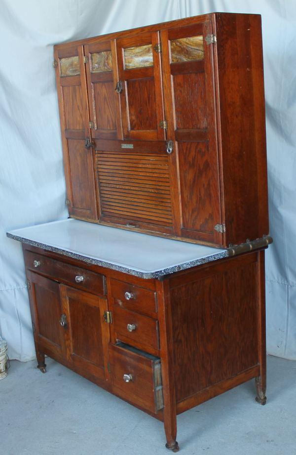 Bargain John' Antiques Oak Kitchen Cabinet - Sellers